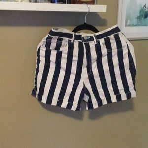 Pants - American apparel denim blue and white mom shorts